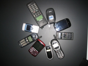 The Evolution of My Cellphone collection. ©MrsEnginerd