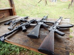 Firearms at the range. ©MrsEnginerd