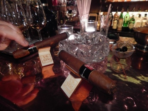 Cigars and scotch at Tynska Bar and Books. ©MrsEnginerd