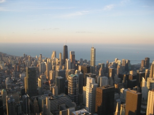 Chi Town from the Willis Tower ©MrsEnginerd