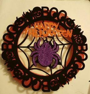$5 DIY Halloween Wreath. ©MrsEnginerd